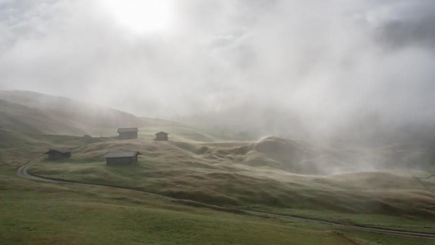 Alpen im Nebel